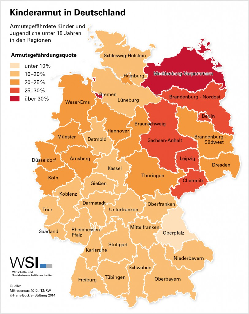 Kinderarmut in Deutschland Grafik WSI