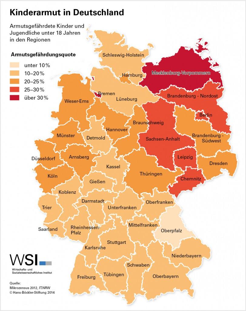 Kinderarmut in Deutschland Grafik WSI