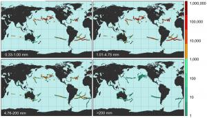 Verbreitung von Plastik im Meer