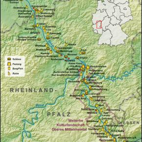 Karte Mittelrhein