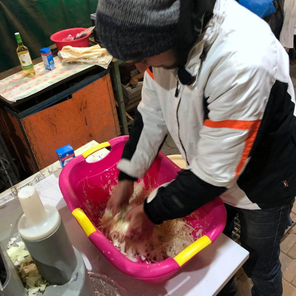 Solawi Sauerkraut machen